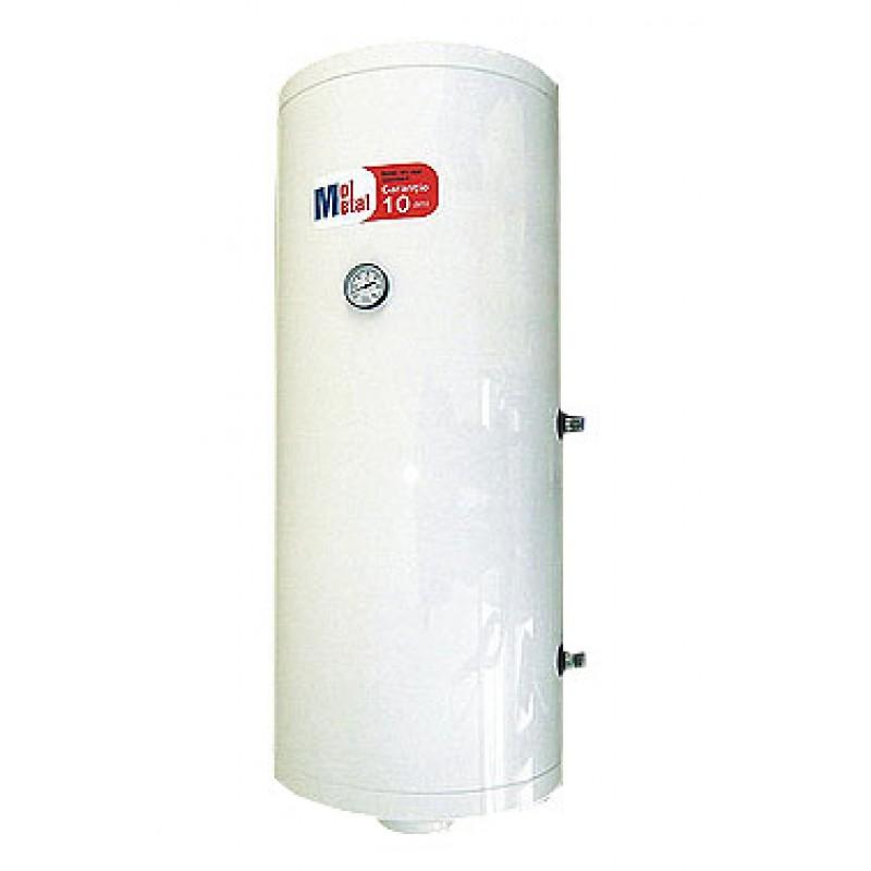 Boiler inox apa calda cu un schimbator de caldura si rezistenta electrica 130 litri