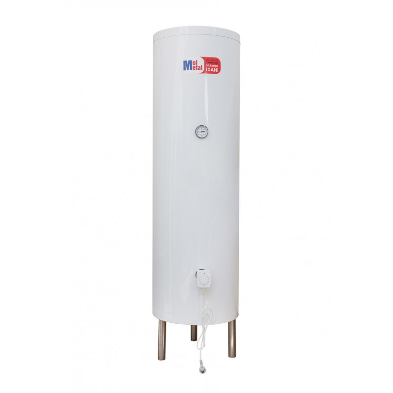 Boiler inox apa calda cu 2 schimbatoare de caldura si rezistenta electrica 170 litri