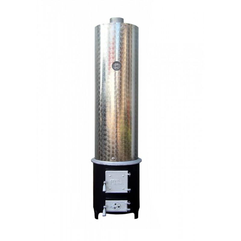 Cazan din inox cu schimbator de caldura tip CS 14-0-BD + soba pentru cazan